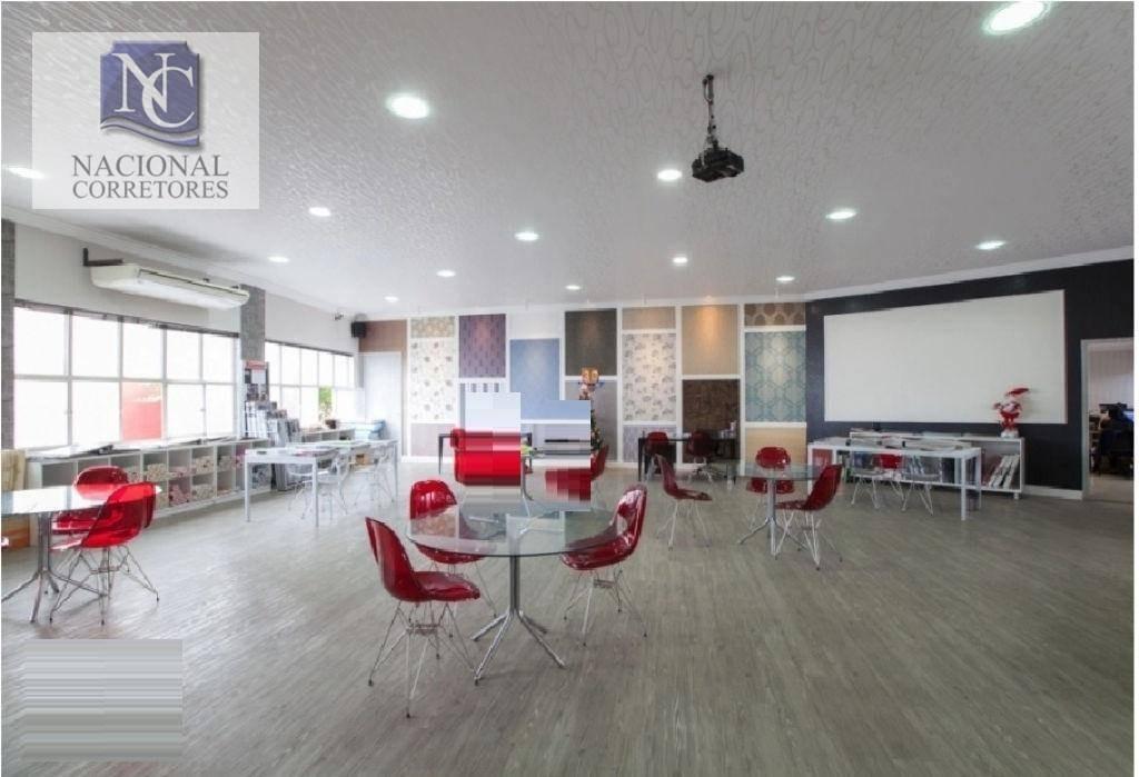 galpão para alugar, 1800 m² por r$ 80.000,00/mês - cambuci - são paulo/sp - ga0686