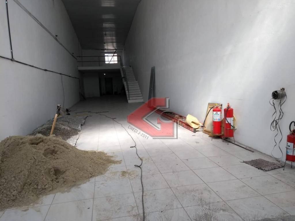 galpão para alugar, 245 m² por r$ 4.000/mês - centro - são bernardo do campo/sp - ga0132