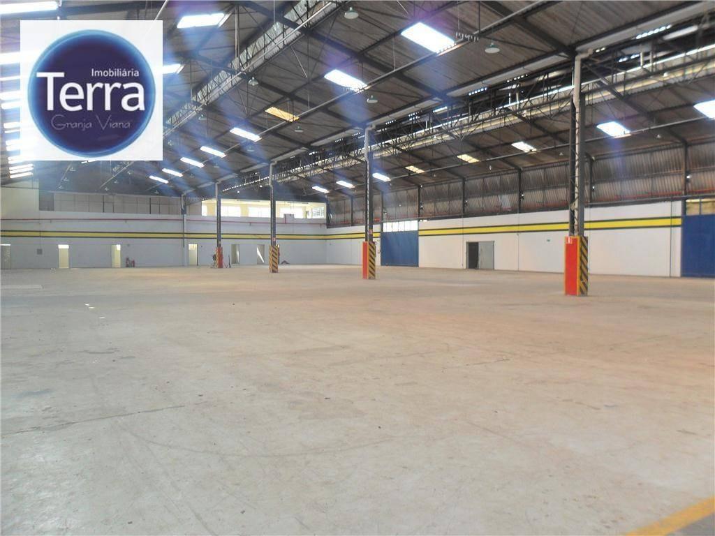 galpão para alugar, 2500 m² por r$ 37.500,00/mês - jardim são vicente - cotia/sp - ga0004