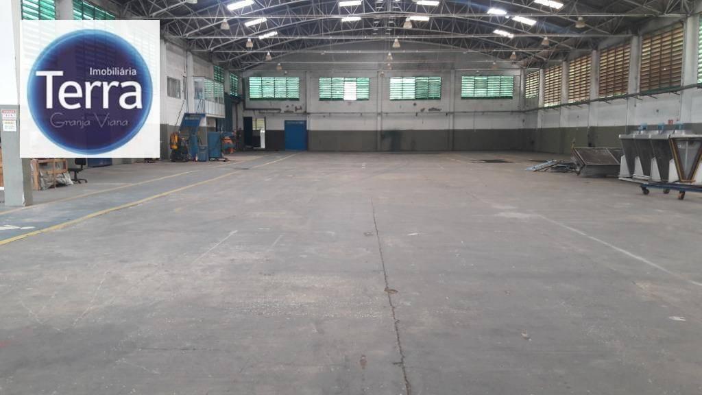 galpão para alugar, 2800 m² por r$ 48.000,00/mês - granja viana ii - cotia/sp - ga0162