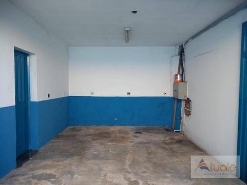 galpão para alugar, 300 m² - jardim santana - hortolândia/sp - ga0129