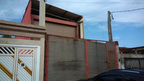 galpão para alugar, 300 m² por r$ 4.700/mês - vila sônia - praia grande/sp - ga0019