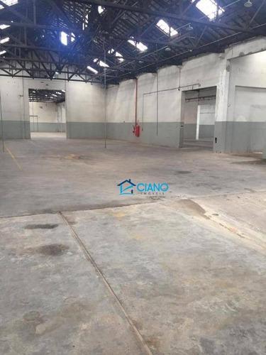 galpão para alugar, 3200 m² por r$ 52.000/mês - mooca - são paulo/sp - ga0228