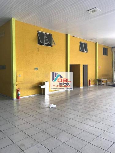 galpão para alugar, 3784 m² por r$ 175.000/mês - jardim independência - são paulo/sp - ga0028