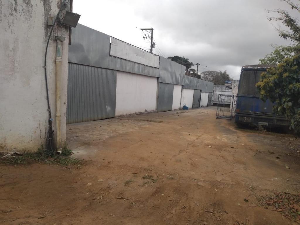 galpão para alugar, 400 m² por r$ 2.000/mês - chácaras ceres - suzano/sp - ga0028