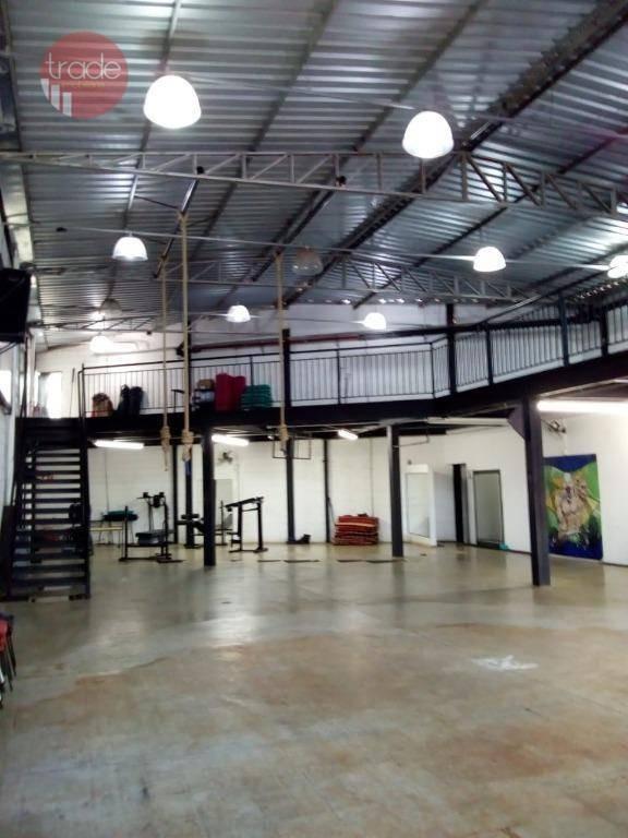 galpão para alugar, 410 m² por r$ 6.500,00/mês - jardim palma travassos - ribeirão preto/sp - ga0084