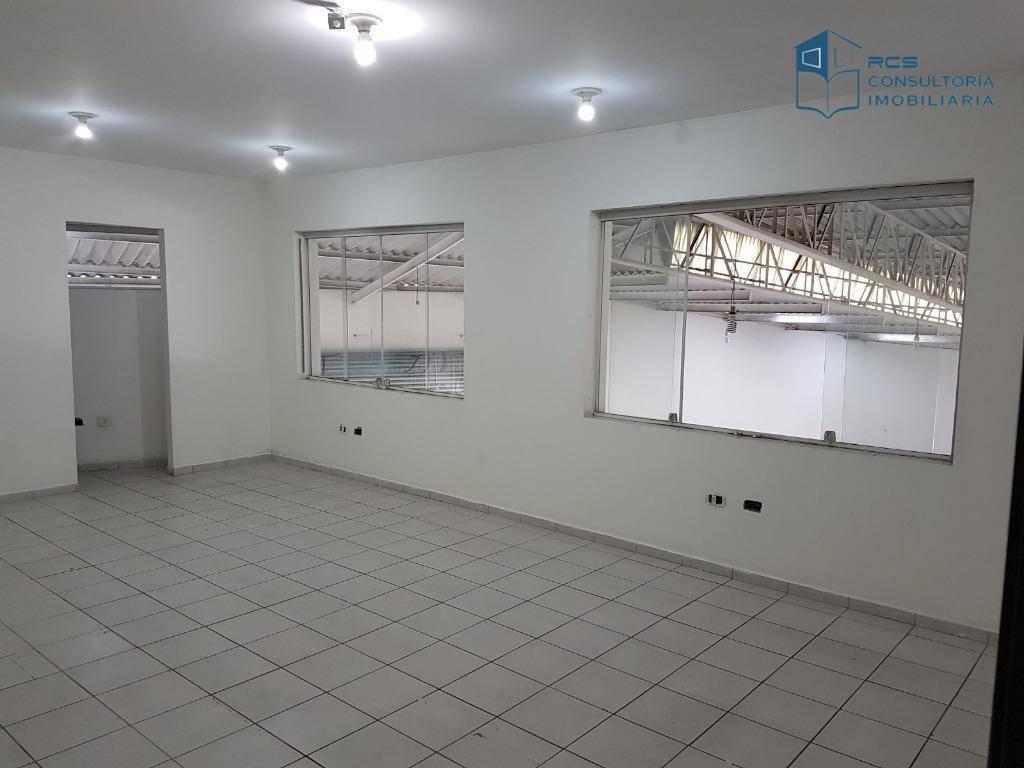 galpão para alugar, 450 m² por r$ 9.000/mês - vila ribeiro de barros - são paulo/sp - ga0063