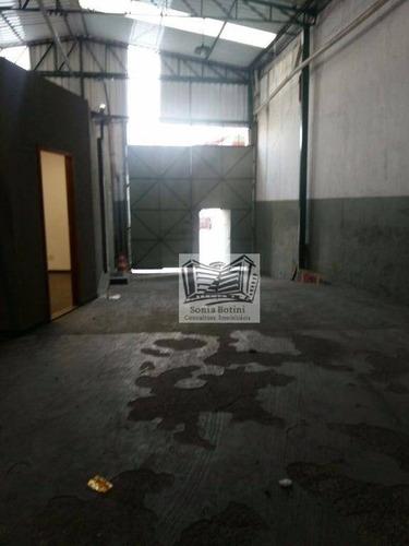 galpão para alugar, 490 m² por r$ 7.000,00/mês - vila prudente - são paulo/sp - ga0005
