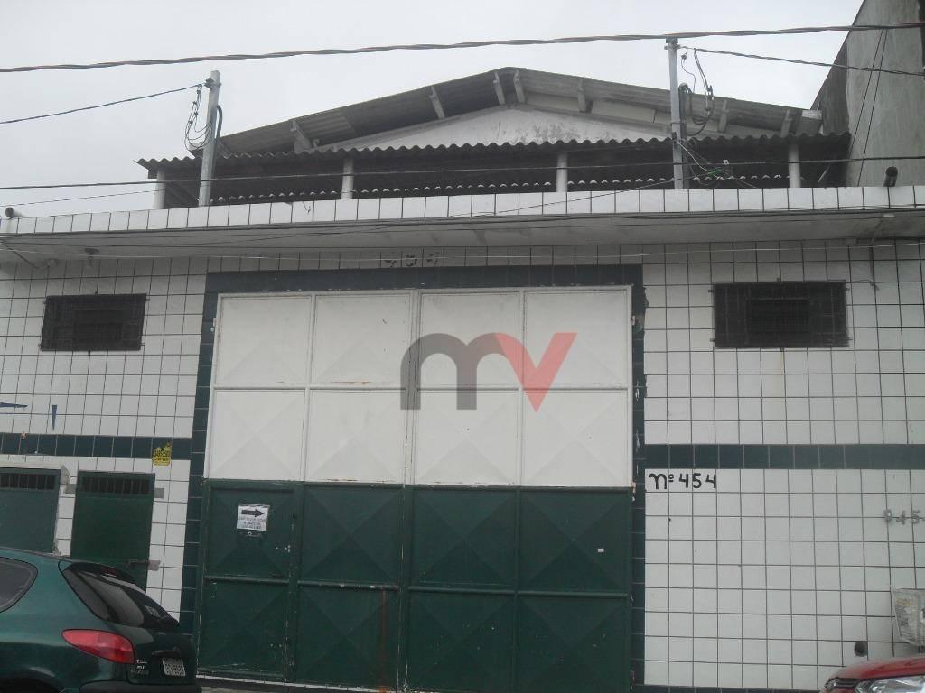 galpão para alugar, 530 m² por r$ 4.500/mês - vila mirim - praia grande/sp - ga0013