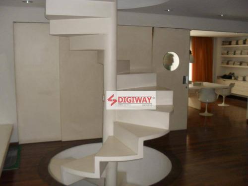 galpão para alugar, 550 m² com mezanino - ga0026