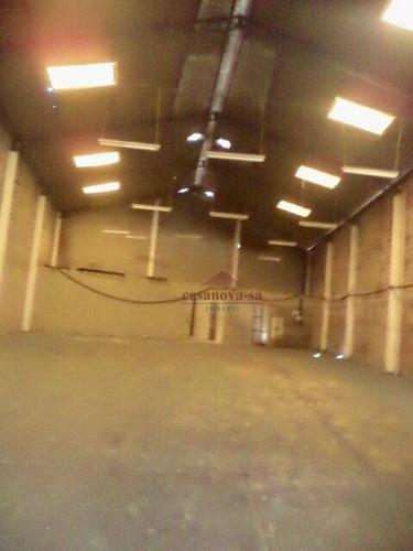 galpão para alugar, 553 m² area construida por r$ 8.700/mês - são josé - são caetano do sul/sp - ga0047
