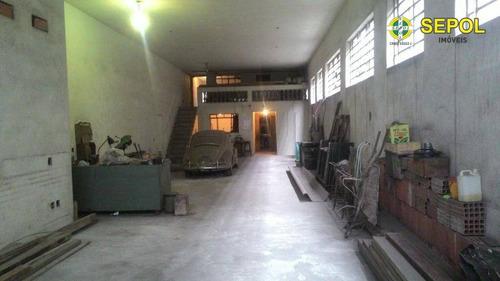 galpão para alugar, 600 m² por r$ 17.000/mês - ga0038