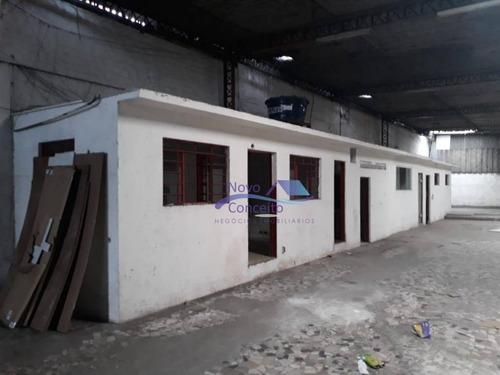 galpão para alugar, 600 m² por r$ 5.500,00/mês - jardim centenário - são paulo/sp - ga0086