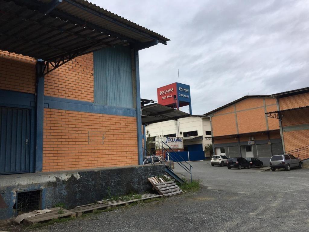 galpão para alugar, 600 m² por r$ 7.000/mês - itoupava central - blumenau/sc - ga0089