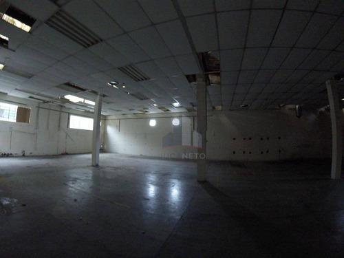 galpão para alugar, 621 m² por r$ 10.000,00/mês - vila valparaíso - santo andré/sp - ga0017