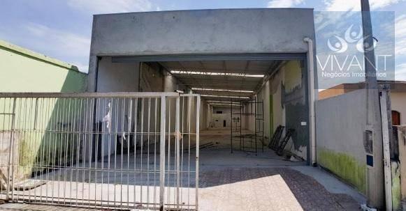 galpão para alugar, 658 m² por r$ 12.000/mês - parque suzano - suzano/sp - ga0018