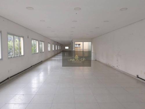 galpão para alugar, 710 m² por r$ 17.000,00/mês - aclimação - são paulo/sp - ga0245