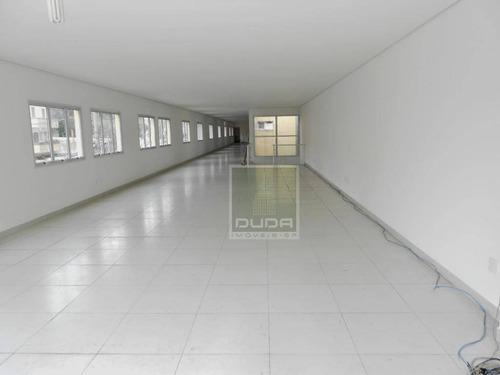 galpão para alugar, 710 m² por r$ 21.000/mês - aclimação - são paulo/sp - ga0045
