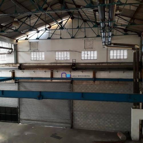galpão para alugar, 7400 m² por r$ 96.200/mês - parque da mooca - são paulo/sp - ga0606
