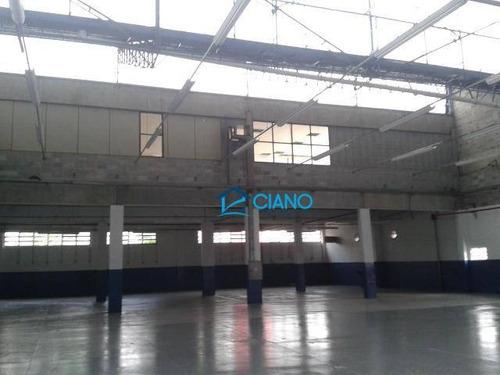 galpão para alugar, 8953 m² por r$ 98.000/mês - cidade industrial satélite de são paulo - guarulhos/sp - ga0110