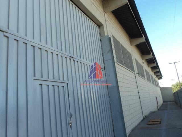 galpão para alugar, 950 m² por r$ 8.000,00/mês - jardim pérola - santa bárbara d'oeste/sp - ga0004