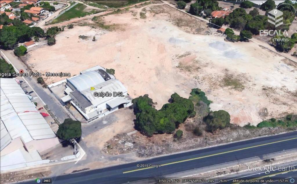 galpão para alugar/vender, 2000 m² por r$ 25.000/mês - messejana - fortaleza/ce - ga0003