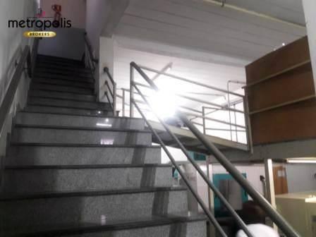 galpão para locação, 326 m² por r$ 6.000,00 - santo antônio - são caetano do sul/sp - ga0063