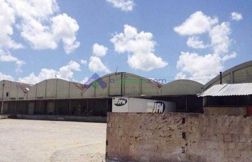 galpões no centro de bayeux de 800 m² a 3.650 m², docas, portaria 24h. - 1016