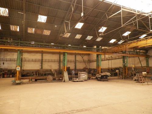 galpón de 1500 m2 en dos naves- puentes grúa - 500 m2 oficin