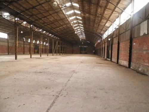galpon de 2400 m2 cubiertos - sup total 5500 m2 - pitq - alq