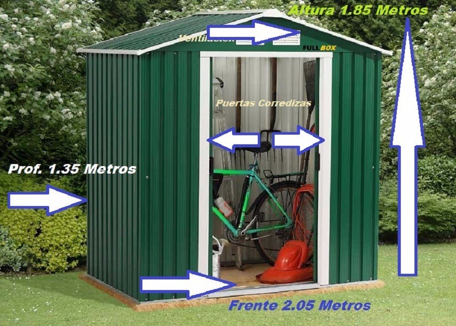 Galpon de jard n dep sito prefabricado chapa galvanizada for Galpon de madera para jardin