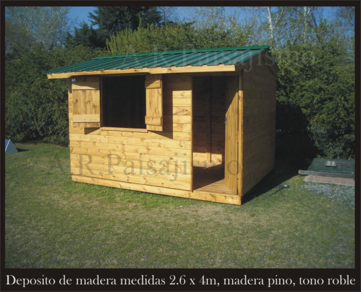 Galpon Jardin De Madera Deposito 2x3m Sin Piso Cuatri Taller