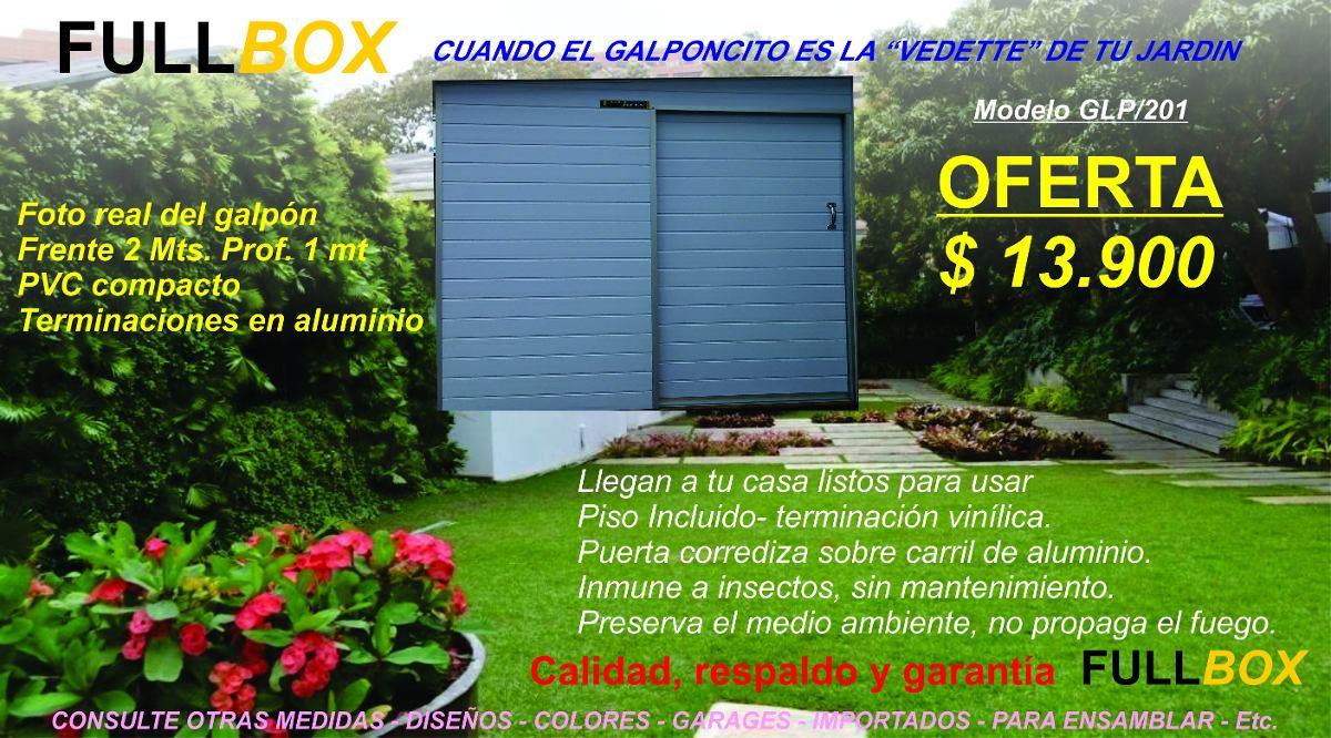 Galp n prefabricado jard n pvc compacto dise o fullbox for Armarios de pvc para jardin