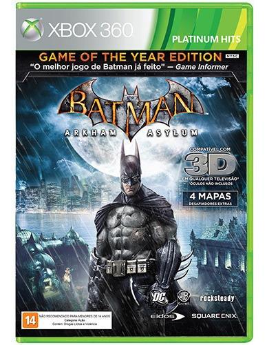 game batman arkham asylum goty xbox 360 midia fisica