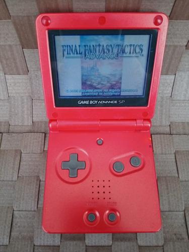 game boy advance sp original + final fantasy tactics + case