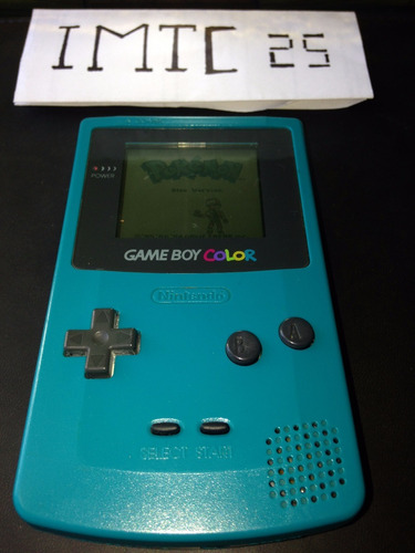 game boy color con pokemon blue y cable link +envio gratis