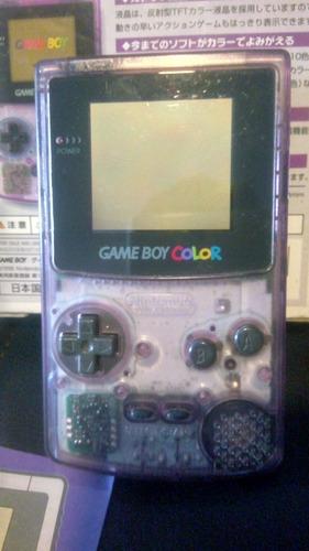 game boy color morado traslúcido japo