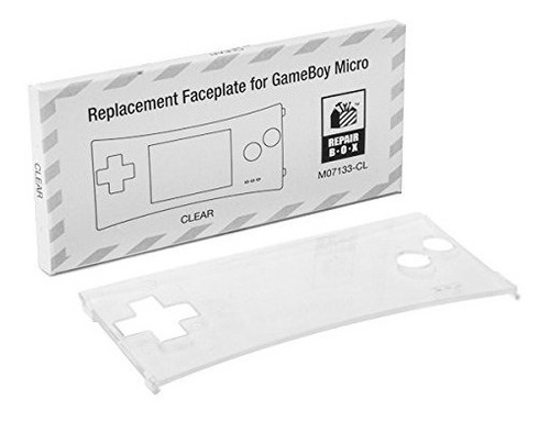 game boy micro replacement faceplate (clear)