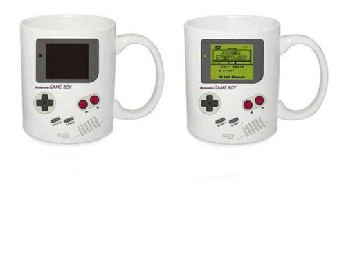 game boy mug taza cambia con el calor termico