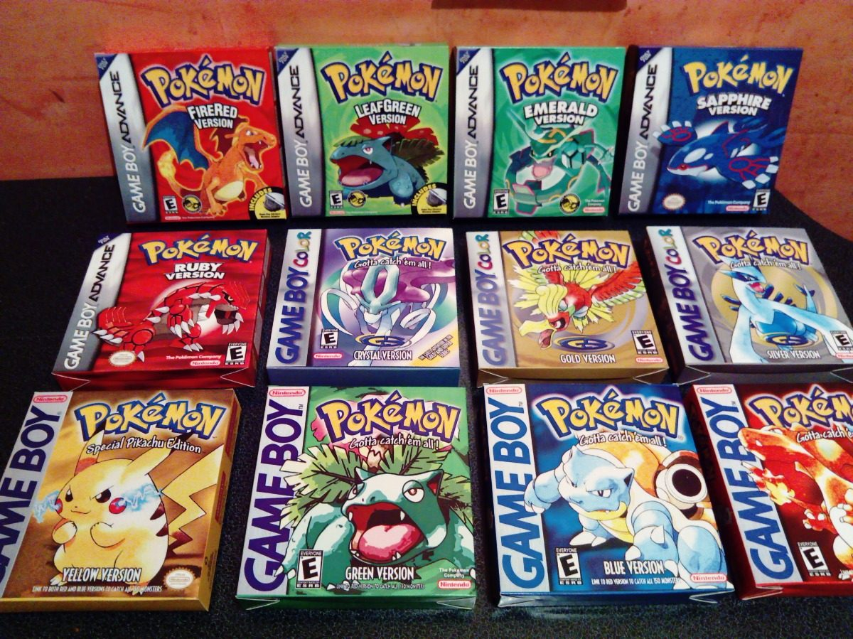 Game Boy Pocke Color Advance Cajas Para Juegos 18750 En