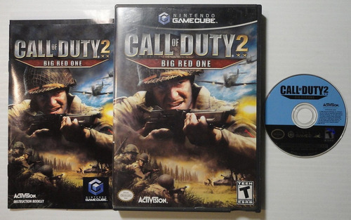 game cube: call of duty 2 big red one completo americano!!