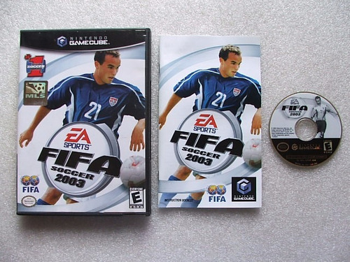 game cube: fifa soccer 2003 americano completo!! raridade!!