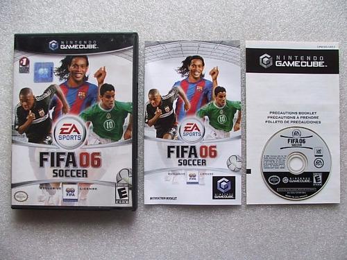 game cube: fifa soccer 2006 americano completo!! raridade!!
