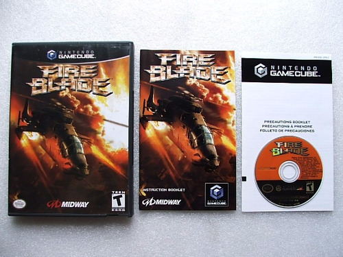 game cube: fire blade americano completo!! raridade!!