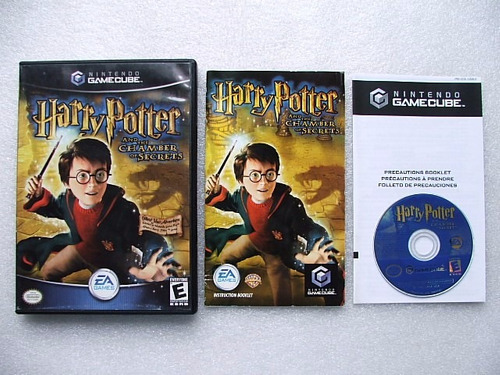 game cube: harry potter and the chamber of secrets completo!