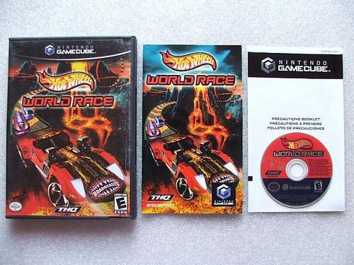 game cube: hot wheels world race americano completo!! raro!!
