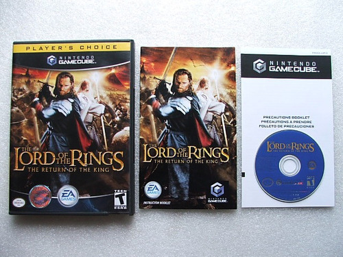 game cube: lord of the rings return of the king completo!!