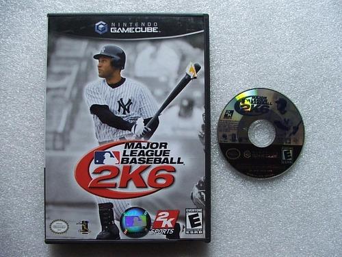 game cube: major league baseball 2k6 original americano!!