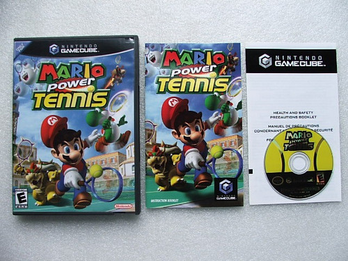 game cube: mario power tennis americano completo!! 100% ok!!