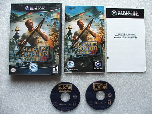 game cube: medal of honor rising sun completo americano!!